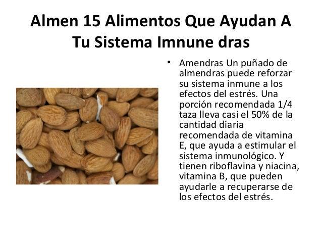 15 alimentos que ayudan a tu sistema icomermnune - Alimentos sistema inmunologico ...
