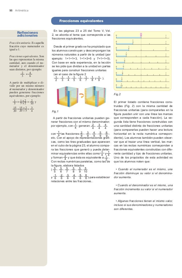 96 Aritmética                                        Fracciones equivalentes                                         Fracc...