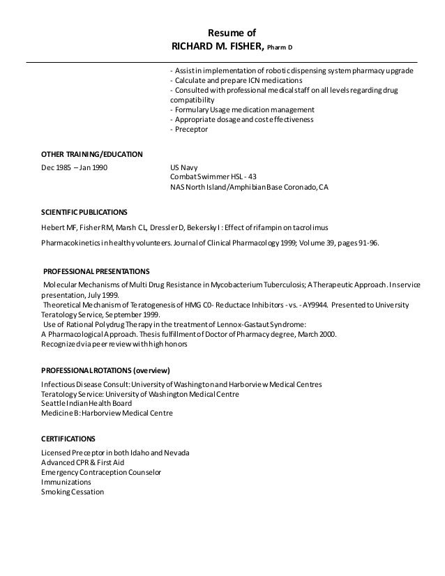 richard fisher resume