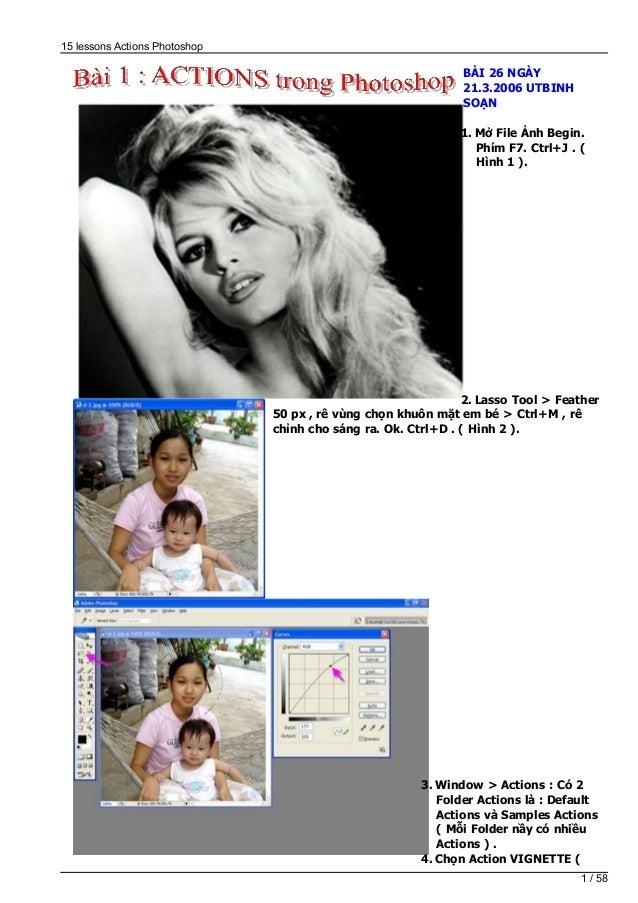 15 lessons Actions Photoshop                                                               BÀI 26 NGÀY                    ...