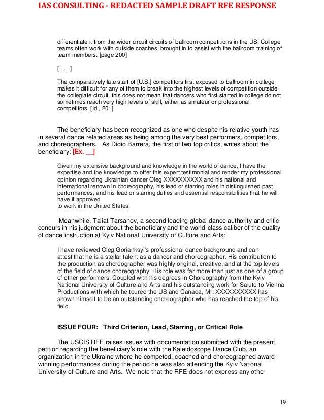 rfe response cover letter - Hizir kaptanband co