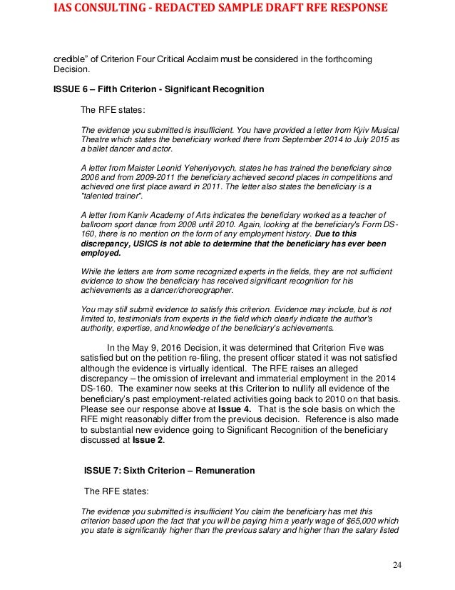 Rfe response letter sample divingexperience rfe response letter sample spiritdancerdesigns Image collections