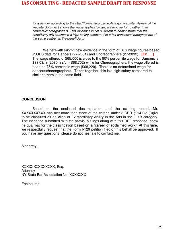 Wk Sample - redacted O-1B 2nd RFE Response 10.22.16