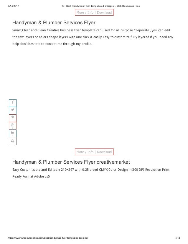 handyman flyer designs templates 2017