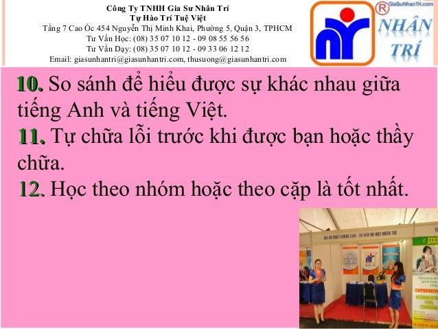 Công Ty TNHH Gia Sư Nhân Trí Tự Hào Trí Tuệ Việt Tầng 7 Cao Ốc 454 Nguyễn Thị Minh Khai, Phường 5, Quận 3, TPHCM Tư Vấn Họ...