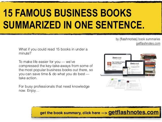 15 Business Books Summarized In One Sentence