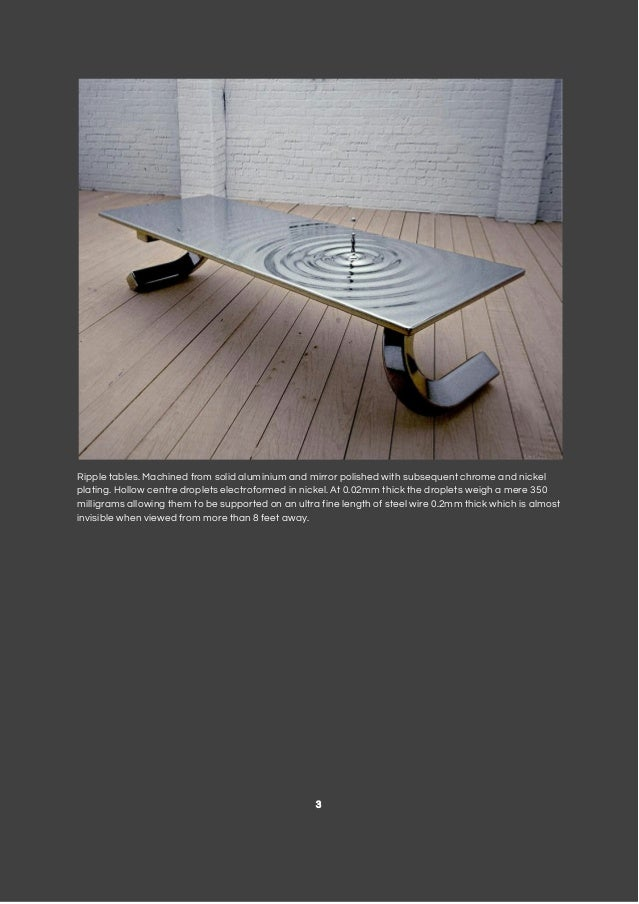Ripple Tables. Photo Gallery