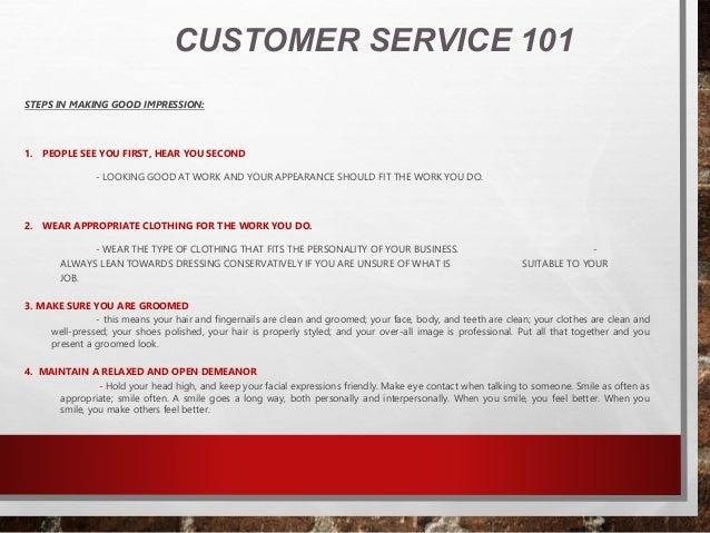 customer service training 101 pdf