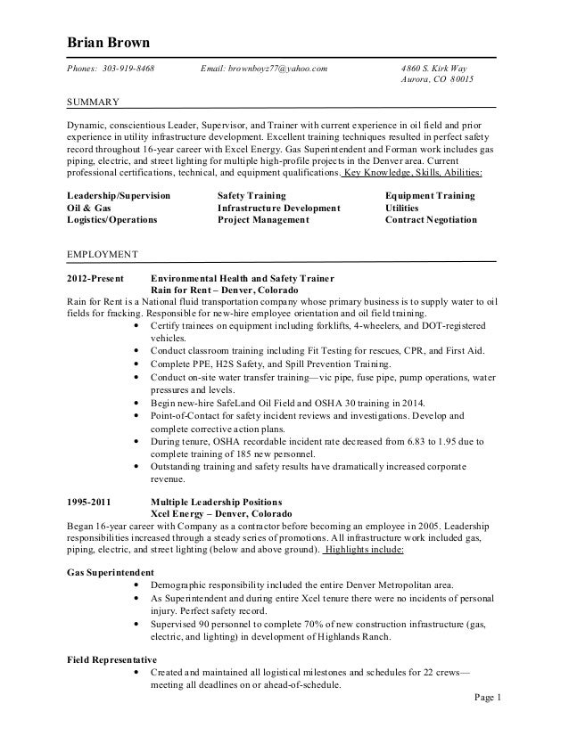 Stunning Xcel Energy Resume Colorado Images - Best Resume Examples ...