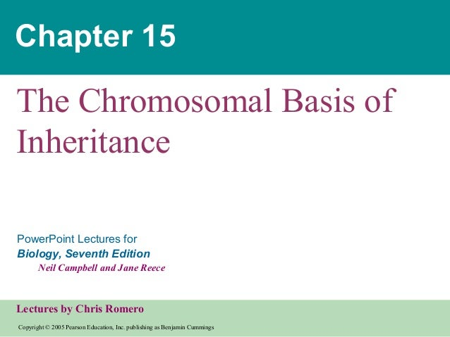 Chapter 15  The Chromosomal Basis of Inheritance PowerPoint Lectures for Biology, Seventh Edition Neil Campbell and Jane R...