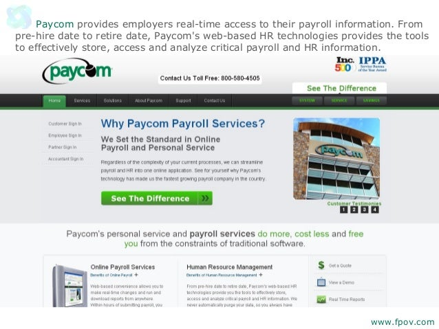 15 Cloud SaaS Based Online Payroll Providers