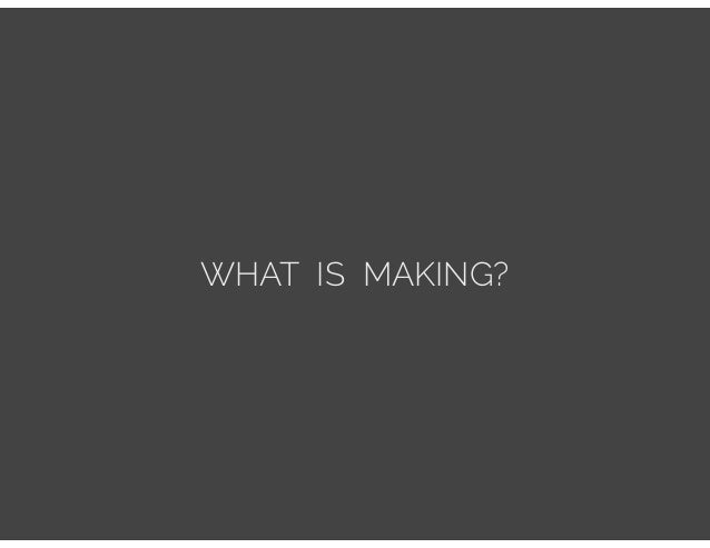 Making Good: Diversity and Equality in the Maker Movement Slide 2