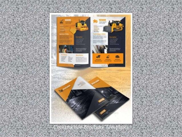 Construction Brochure Templates
