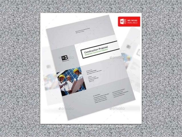 Construction Proposal Contoh Desain Company Profile Perusahaan Konstruksi Kontraktor
