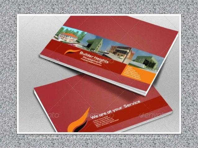 Construction Brochure 3 Contoh Desain Company Profile Perusahaan Konstruksi Kontraktor
