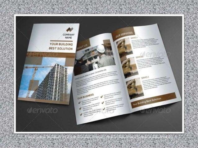 Construction Brochure 2 Contoh Desain Company Profile Perusahaan Konstruksi Kontraktor