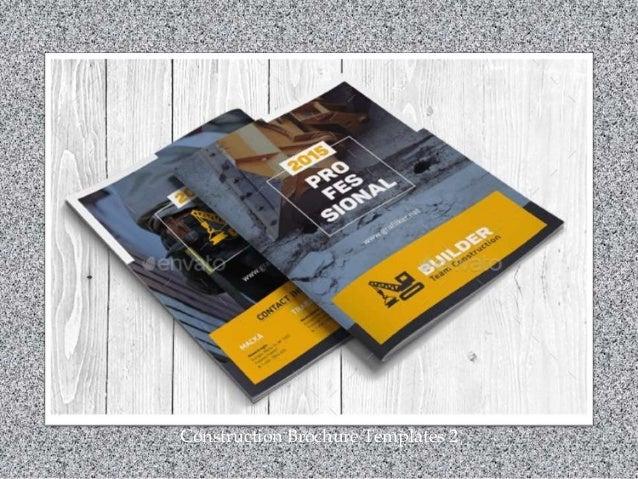 Construction Brochure Templates 2