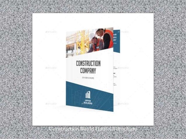Construction Bifold Halffold Brochure
