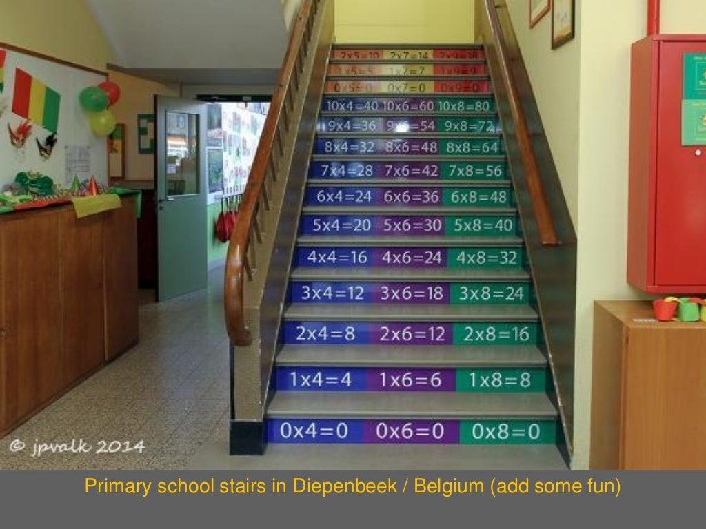 Classroom Decor Tips ~ Primary school stairs in diepenbeek