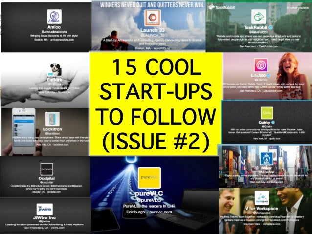 15 COOL START-UPS TO FOLLOW (ISSUE #2)