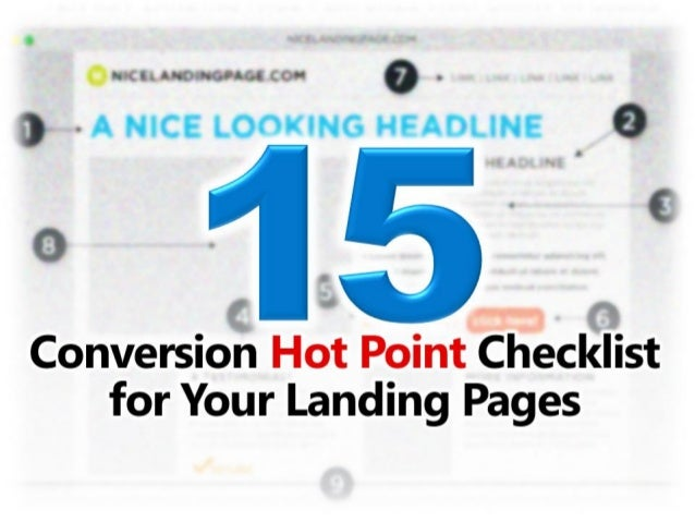15 Conversion Hot Points Checklist for Your Landing Pages
