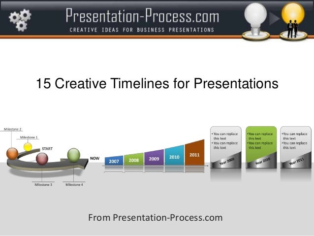 Great timeline presentation slide