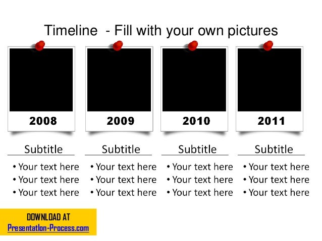 Timeline - Fill with your own pictures DOWNLOAD AT PresentatIon-Process.com