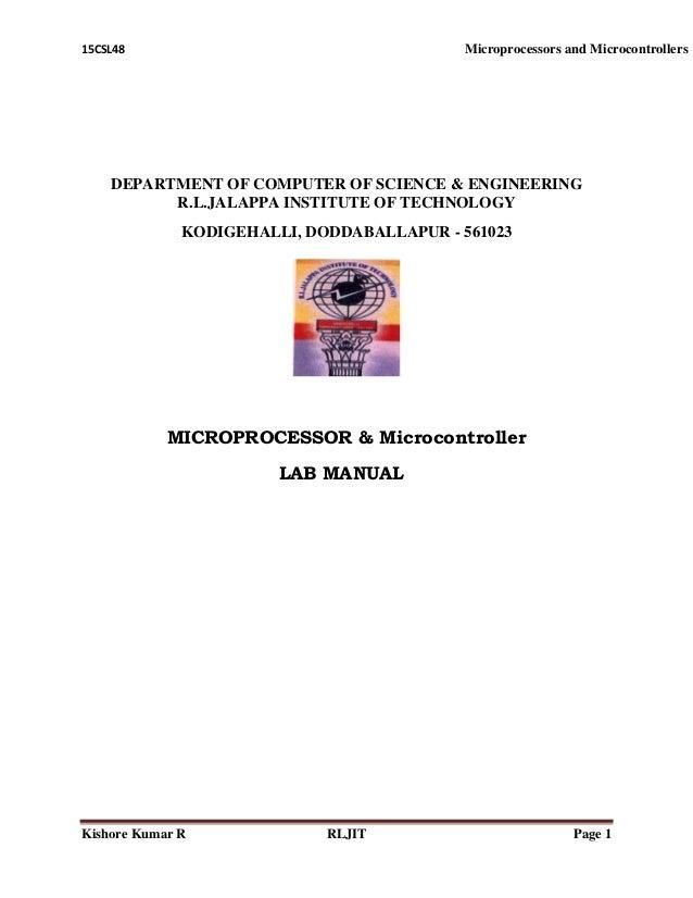 15csl48 mp mc manual rh slideshare net Microprocessor Simulation Lab microprocessor and microcontroller vtu lab manual