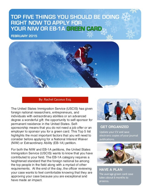 Apply for a NIW or EB-1A Green
