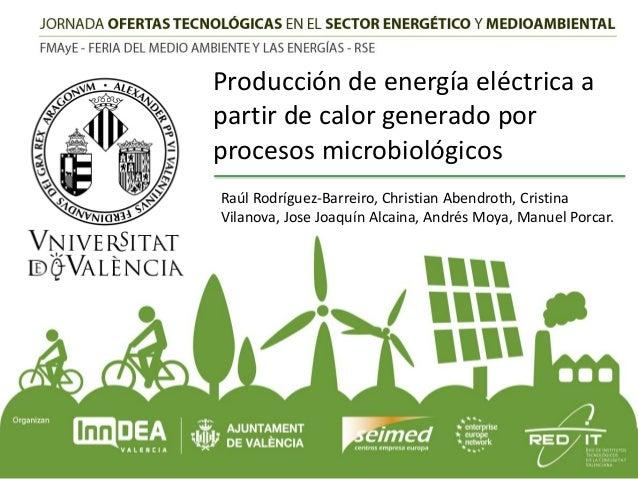 Producción de energía eléctrica a partir de calor generado por procesos microbiológicos Raúl Rodríguez-Barreiro, Christian...