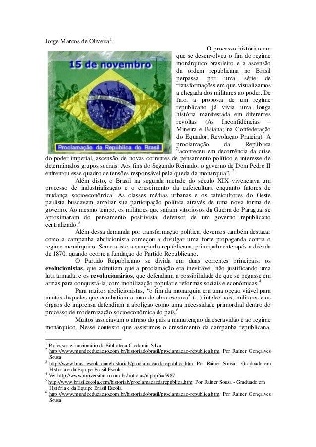 Jorge Marcos de Oliveira1                                                              O processo histórico em            ...