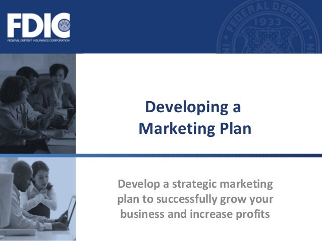 Develop a strategic marketing plan to successfully grow your business and increase profits Developing a Marketing Plan