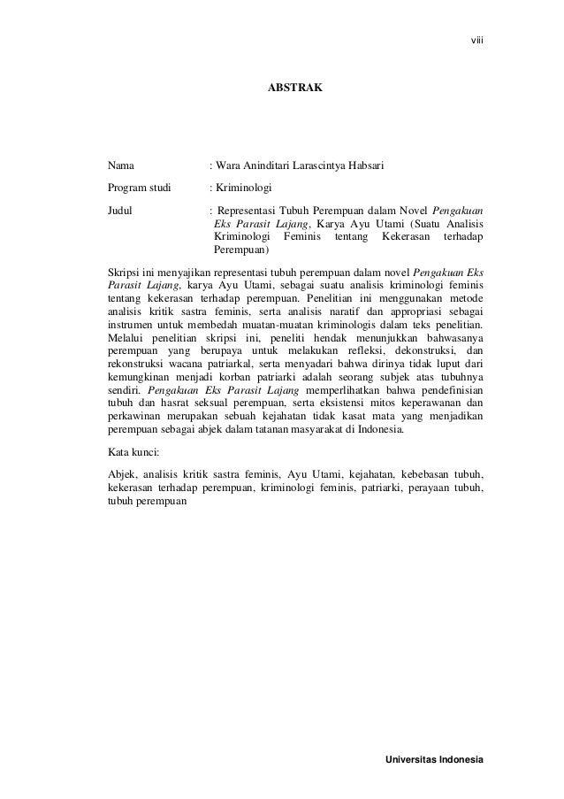 Wara Aninditari Skripsi Kriminologi Fisip Ui 2014