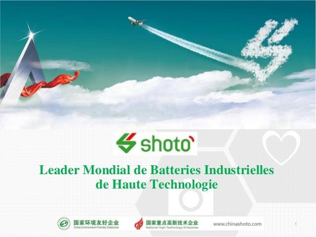 Leader Mondial de Batteries Industrielles de Haute Technologie 1