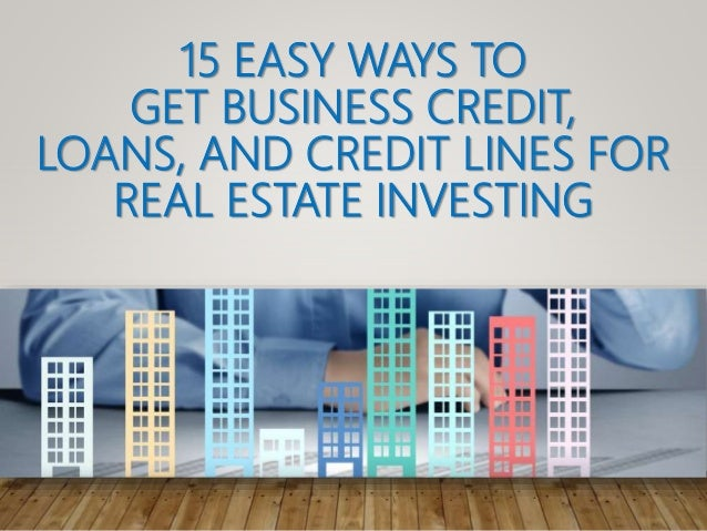 Easy ways to get credit