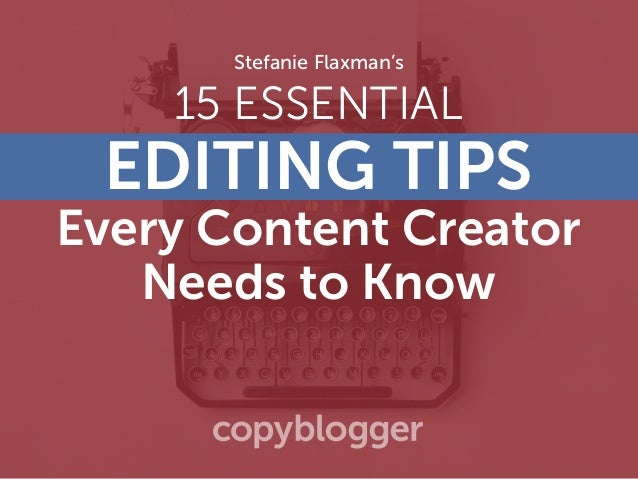 15 ESSENTIAL EDITING TIPS Every Content Creator Needs to Know Stefanie Flaxman's