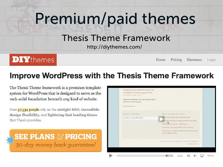 the thesis theme What do lavar burton, copyblogger and this blog all have in common we're all rocking the thesis theme (and you'd better believe that's an affiliate link) over the last year, thesis has taken the wordpress community by storm, quickly becoming.