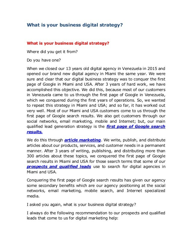 15feb19 what is your business digital strategy