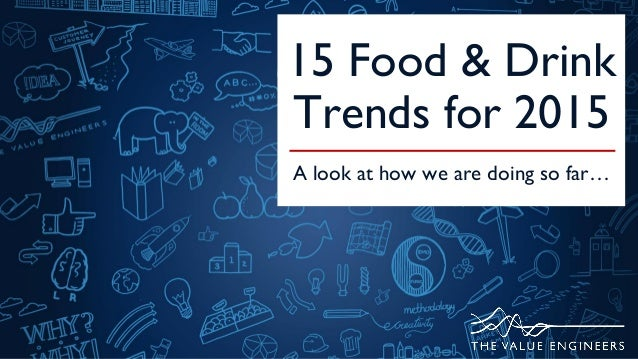 15 Food & Drink Trends for 2015 A look at how we are doing so far…