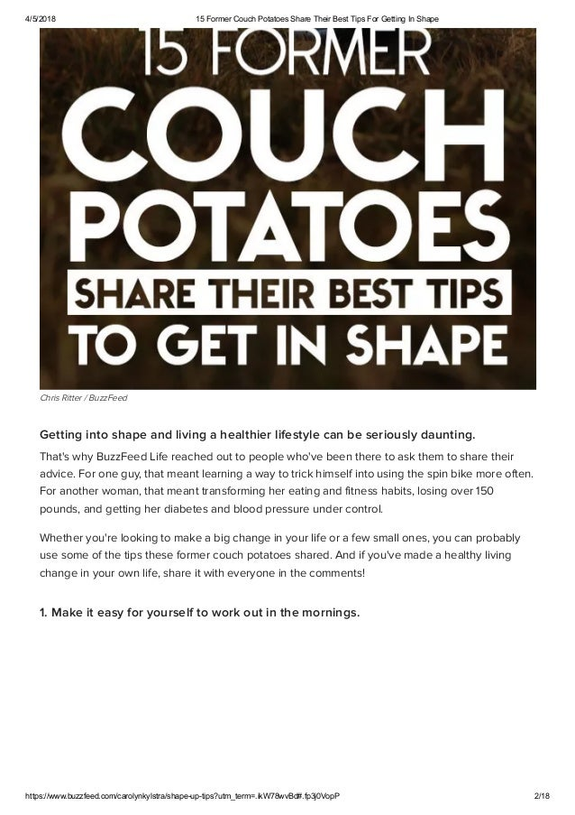 4ca8560de03 ... 2. 4 5 2018 15 Former Couch Potatoes Share Their Best Tips For Getting  In Shape ...