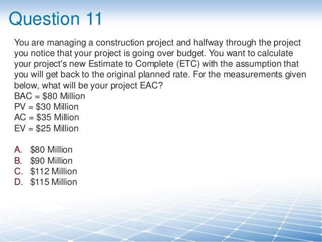 free pmp exam questions pdf