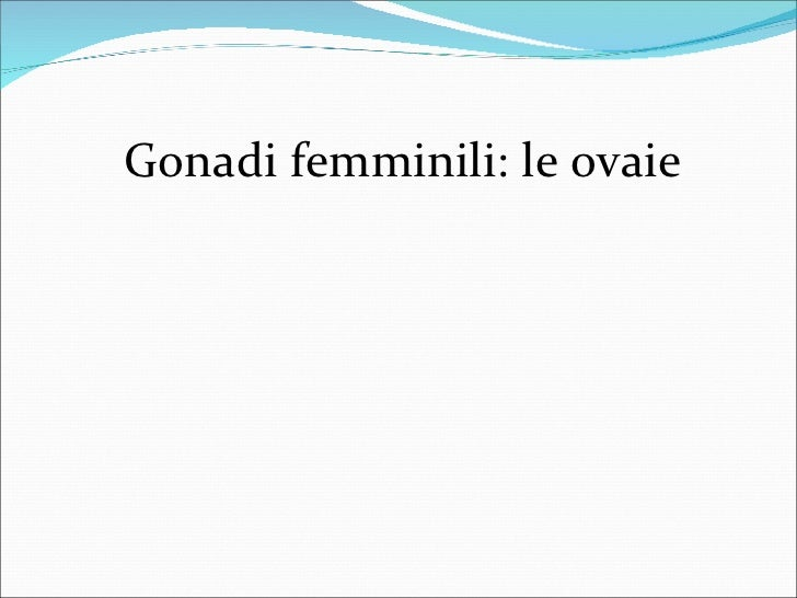 Gonadi femminili: le ovaie