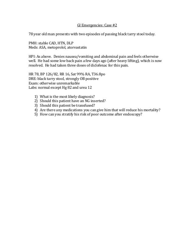 Gi Emergencies Questions Only