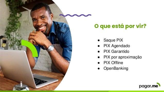 O que está por vir? ● Saque PIX ● PIX Agendado ● PIX Garantido ● PIX por aproximação ● PIX Offline ● OpenBanking