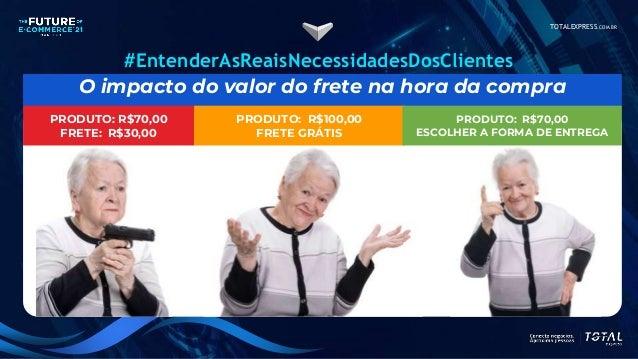 TOTALEXPRESS.COM.BR O impacto do valor do frete na hora da compra PRODUTO: R$100,00 FRETE GRÁTIS #EntenderAsReaisNecessida...