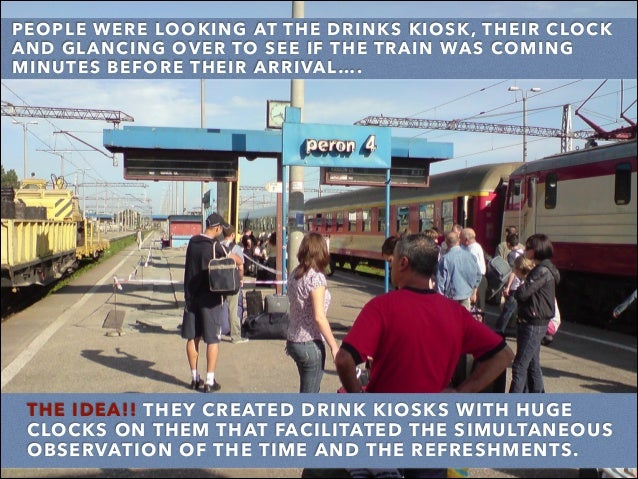PEOPLE WERE LOOKING AT THE DRINKS KIOSK, THEIR CLOCK AND GLANCING OVER TO SEE IF THE TRAIN WAS COMING MINUTES BEFORE THEIR...