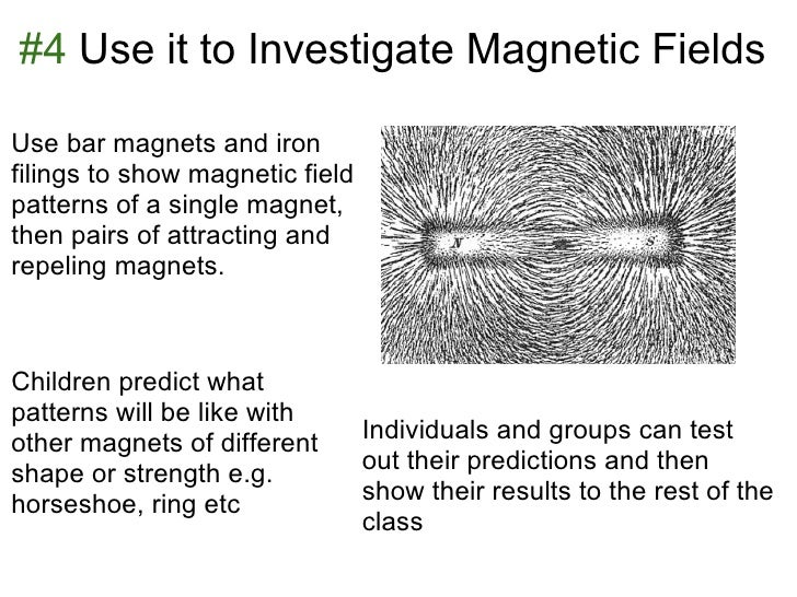 #4 Use it to Investigate Magnetic FieldsUse bar magnets and ironfilings to show magnetic fieldpatterns of a single magnet,...