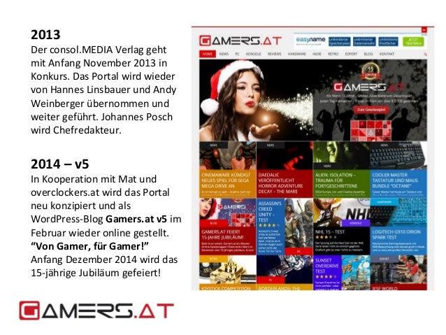 2013  Der consol.MEDIA Verlag geht  mit Anfang November 2013 in  Konkurs. Das Portal wird wieder  von Hannes Linsbauer und...