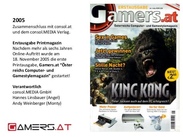 2005  Zusammenschluss mit consol.at  und dem consol.MEDIA Verlag.  Erstausgabe Printmagazin  Nachdem mehr als sechs Jahren...