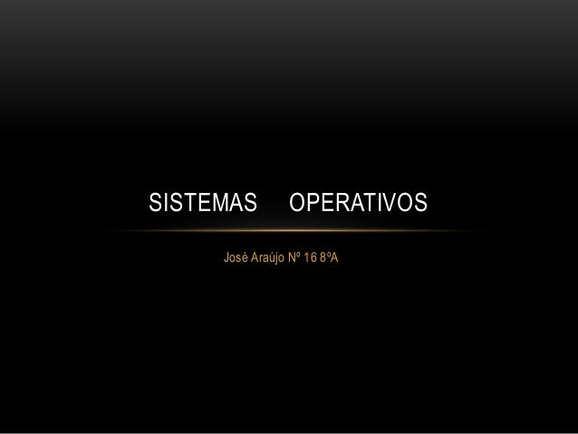 SISTEMAS  OPERATIVOS  José Araújo Nº 16 8ºA